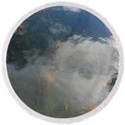 Reflecting Clouds In The Water  Round Beach Towel