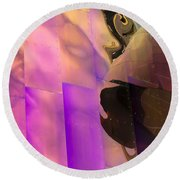 Reflecting Emp Round Beach Towel