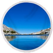 Reflecting On Treasure Lake Round Beach Towel