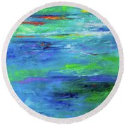 Reflection-2 Round Beach Towel
