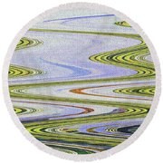 Reflection Abstract Abstract Round Beach Towel