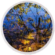 Reflection And Transparency Round Beach Towel