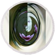 Reflection In A Drop Round Beach Towel