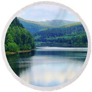 Reflection In The Water II Round Beach Towel