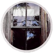 Reflection - In - The - Window  Round Beach Towel