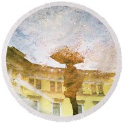 Reflection In Water Round Beach Towel