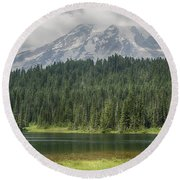 Reflection Lake Round Beach Towel