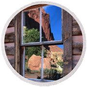 Reflection Of Beauty Round Beach Towel