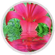 Reflection Of Life  Round Beach Towel