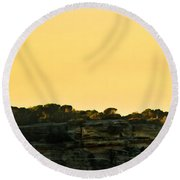 Reflection Of Sunset At North Head Round Beach Towel