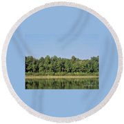 Reflection - On - The - Water Round Beach Towel