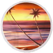 Reflections 2 Round Beach Towel