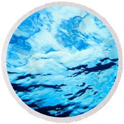 Reflections And Shadows Round Beach Towel