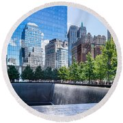 Reflections At 911 Memorial Round Beach Towel