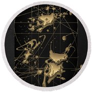 Reflections - Contemplation  Round Beach Towel