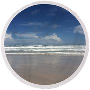 Reflections From The Beach Round Beach Towel