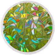 Reflections In A Window Round Beach Towel