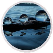 Reflections In Crystal Round Beach Towel