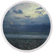 Reflections In The Surf Round Beach Towel