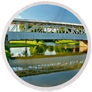 Reflections In Yellow Creek Round Beach Towel
