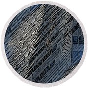 Reflections Of A City 4 Round Beach Towel