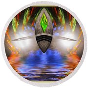 Reflections Of An Alien Jewel Round Beach Towel