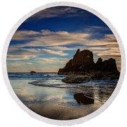 Reflections Of Arcadia Round Beach Towel
