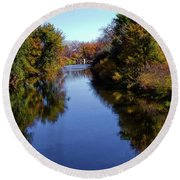 Reflections Of Autumn Round Beach Towel