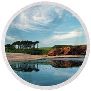 Reflections Of Budleigh Round Beach Towel