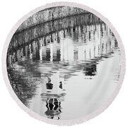 Reflections Of Church 2 Round Beach Towel