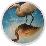 Reflections Of Creation Round Beach Towel