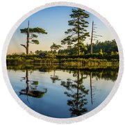 Reflections Of Dawn Round Beach Towel