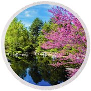 Reflections Of Denver Round Beach Towel