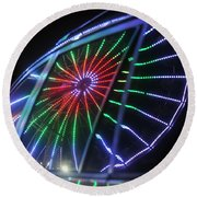 Reflections Of Ferris Round Beach Towel