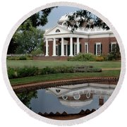 Reflections Of Monticello Round Beach Towel