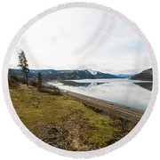 Reflections Of Mosier Round Beach Towel
