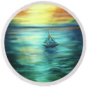 Reflections Of Peace Round Beach Towel