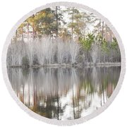 Reflections Of The South Round Beach Towel