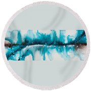 Reflections Of The Universe No. 2040 Round Beach Towel