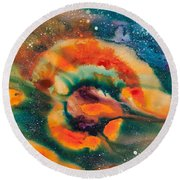 Reflections Of The Universe No. 2051 Round Beach Towel