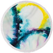 Reflections Of The Universe No. 2058 Round Beach Towel
