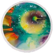 Reflections Of The Universe No. 2062 Round Beach Towel