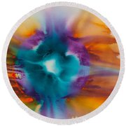 Reflections Of The Universe No. 2305   Round Beach Towel
