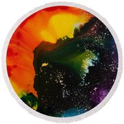 Reflections Of The Universe No. 2318 Round Beach Towel
