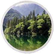 Reflections On Arrow Bamboo Lake Round Beach Towel