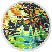 Reflections On Color Round Beach Towel