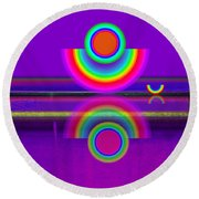 Reflections On Mauve Round Beach Towel