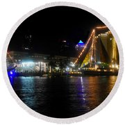 Reflections On Tampa Bay Round Beach Towel