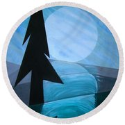 Reflections On The Day Round Beach Towel