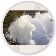 Reflections On The Water Round Beach Towel